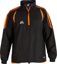 Santiago Rainsuit Top Black/Tangerine