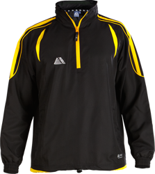 Santiago Rainsuit Top Black/Yellow
