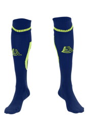 Sabre Football Socks Navy/Fluo Green
