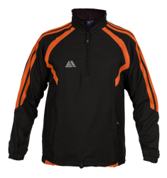 Torino Rainsuit Top Black/Tangerine