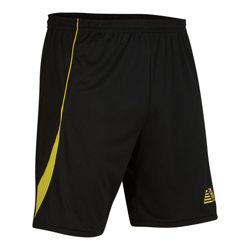 Nova Football Shorts Black/Yellow