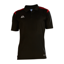 Atlanta Fitted Polo Shirt Black/Red