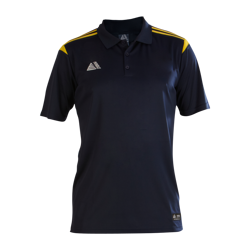 Atlanta Fitted Polo Shirt Navy/Yellow