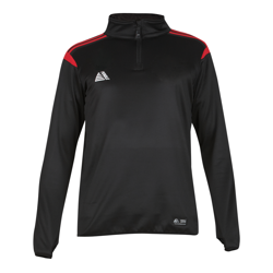 Atlanta Quarter Zip Top Black/Red