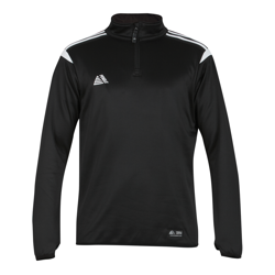 Atlanta Quarter Zip Top Black/White