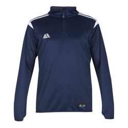 Atlanta Quarter Zip Top Navy/White