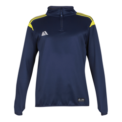 Atlanta Quarter Zip Top Navy/Yellow