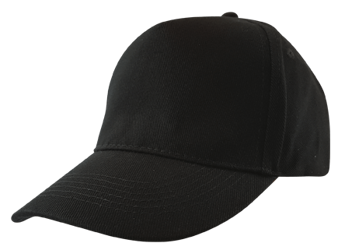 Baseball Cap (Embroidered) Black