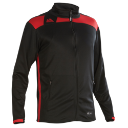 Malmo Fitted Tracksuit Top Black/Red
