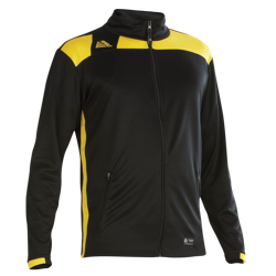 Malmo Fitted Tracksuit Top Black/Yellow