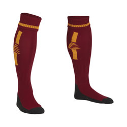 Optima Football Socks Maroon/Amber