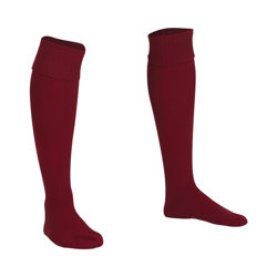 Premier Plain Football Socks Maroon