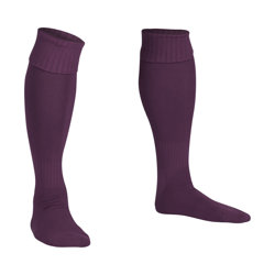 Premier Plain Football Socks Purple