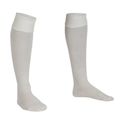 Premier Plain Football Socks White