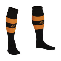 Prima Football Socks  Black/Amber