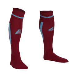 Sabre Football Socks Maroon/Sky