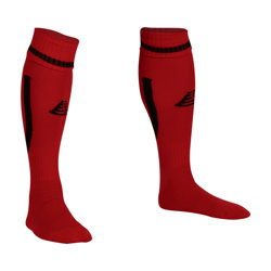 Sabre Football Socks Red/Black