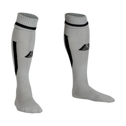Sabre Football Socks Silver/Black