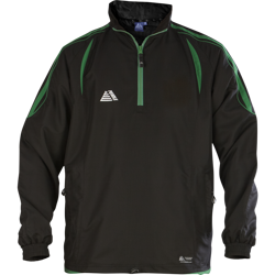 Santiago Rainsuit Top Black/Green