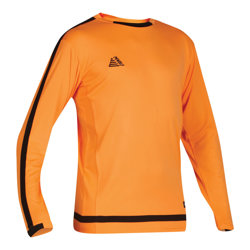 Solar Fitted Goalkeeper Shirt Fluo Orange/Black