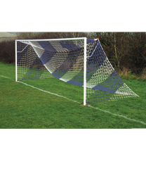 Blue Striped Goal Nets Royal/White