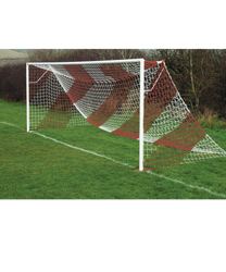 Red Striped Goal Nets Red/White