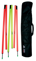 12 Slalom Poles With Bag (Jointed) 12 Slalom Poles (Jointed) With Bag