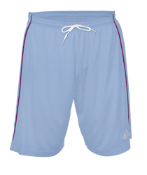Premier Football Shorts Sky/Maroon