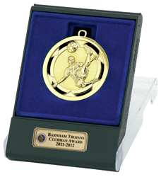 Gold Volley Football Medal In Flip Top Box