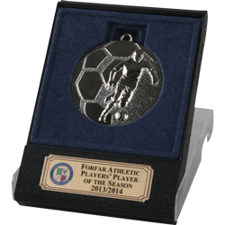 Rapid Silver Football Medal in Flip Top Box